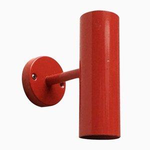 Minimalistische Rote Mid-Century Wandlampe, 2er Set