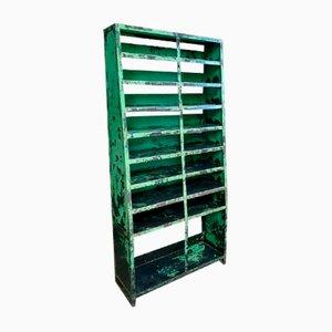 Industrielles Fachregal aus Grünem Stahl