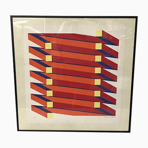 Lithographie von Jan Van Den Abbeel, 57/100, Belgique, 1973