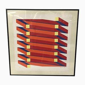 Lithography by Jan Van Den Abbeel, 57/100, Belgique, 1973