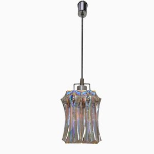 Multi-Colored Iridescent Glass Chandelier by Verner Panton for Fontana Arte, 1970s