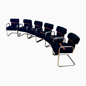 Chairs by Guido Faleschini for i4 Mariani, Italy, 1970s, Set of 6