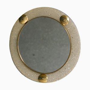 Metalldraht Spiegel im Stile der Vereinigten Werkstätten München, 1950er