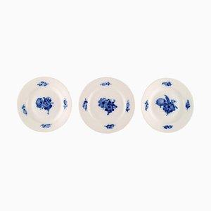 Blaue Modell Nummer 10/8092 Kuchenteller von Royal Copenhagen, 3er Set
