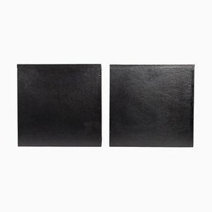 Black Leather & Wood Bases