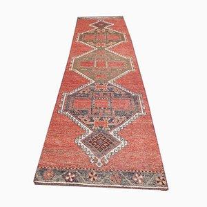 Vintage Turkish Red Wool Runner Rug