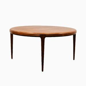 Table Basse Ronde en Teck par Johannes Andersen pour Silkeborg Møbelfabrik