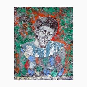 Petrushka, Hand Ground Pigments on Canvas, 2016