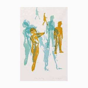 Wandering, Contemporary Monoprint, 2016
