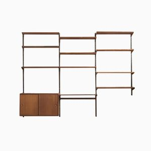 Teak and Metal Wall Unit by Kai Kristiansen for Feldballe Møbelfabrik