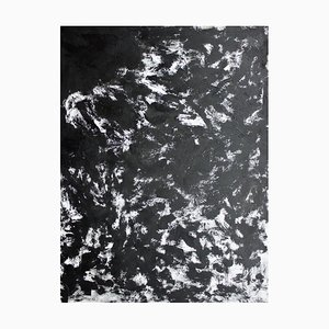 Grand Expression Large Black & White Abstract Painting, Sax Berlin, 2018