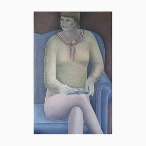 Woman Reading, Contemporary Figurative Oil Painting, 2016