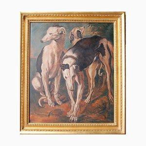Drei Windhunde im Stil von J. Snyders, 2010