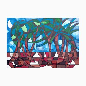 Tropische Bäume, Contemporary Abstract Landscape, 2016