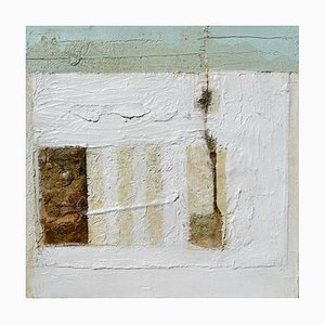 White Abstract, Contemporary Abstract Expressionist Oil Painting, 2003