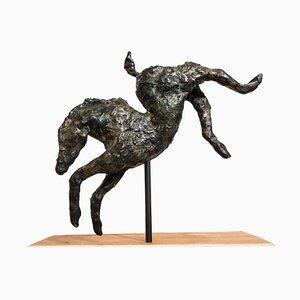 Saut de Cheval Contemporain en Bronze