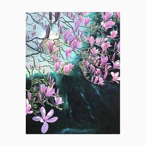 Magnolia Passion, Contemporary Landscape Painting