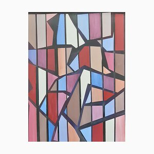 Shards, Contemporary Abstract Öl auf Karton Gemälde, 2019