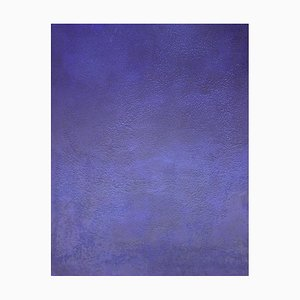 Monochrome Blue, Contemporary Abstract Oil Painting, 2018