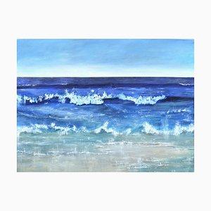 Atlantic Blue II, A Contemporary Seascape, Öl auf Leinwand, 2019