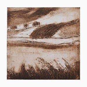 Sepia English Landscape, Contemporary Limited Edition Etching, 2017