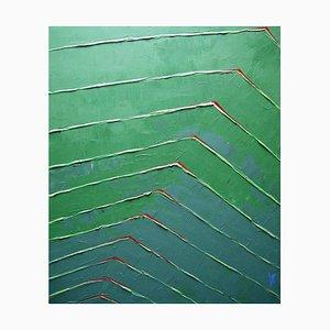 Vegetal, Contemporary Acrylic on Canvas Painting by Anna Malikowska, 2015