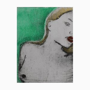 Green and Gold, Contemporary Limited Edition Etching, 2017