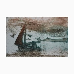 Sailing, Contemporary Limited Edition Etching, 2017