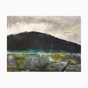Black Mountain, Abstract Expressionist Contemporary Landscape by Peter Rossiter, 2017