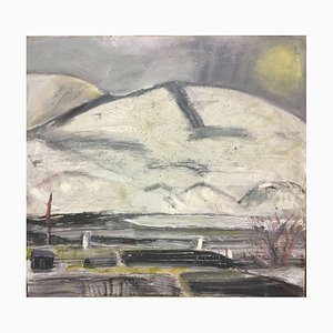 Snow, Sun, Ice: Abstract Expressionist Contemporary Landscape by Peter Rossiter, 2017