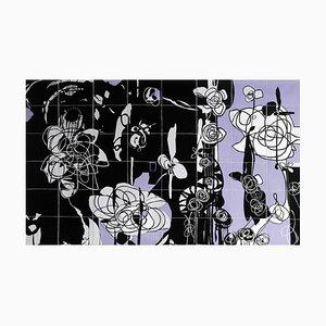 Rhosyn Du, Black Rose, Contemporary Quilt