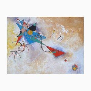 Symphonische Elemente, Contemporary Abstract Öl auf Leinwand Gemälde, von Sax Berlin, 2006