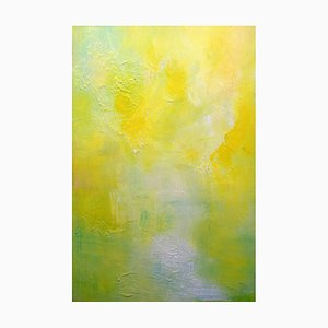 Landscape in Yellow, Contemporary Abstract Oil Painting, 2017