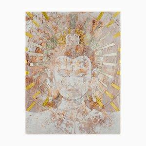 Peace Buddha, Signierter Limitierter Druck, 2017