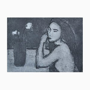 Flowers, Contemporary Limited Edition Figurative Etching, 2012