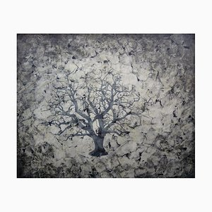 Pintura contemporánea de tinta sobre papel, 2018