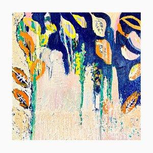 Un Éléphant dans les Manguiers, Peinture à l'Huile Contemporaine, 2020