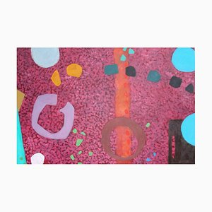 Red Granite, Contemporary Abstract Oil Painting, 2009