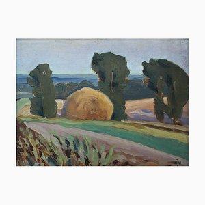 Julius Mieszkowski, Landscape with Fields, 1954