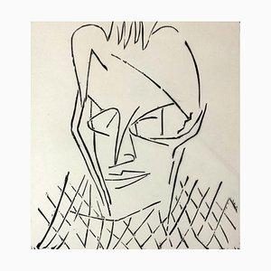 Jerzy Panek, Portrait of J. Gielniak, 1963