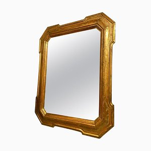 Antique Sicilian Hexagonal Gilded Wood Wall Mirror