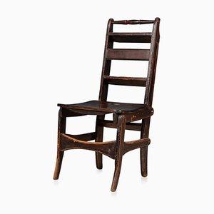 20th Century Metamorphic Oak Library Chair, England, 1900s