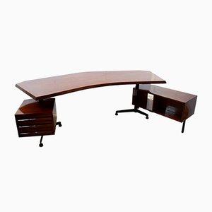 Italian T96 Executive Desk by Osvaldo Borsani for Tecno, 1950s