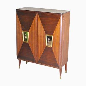 Kleines Italienisches Bar Bar Sideboard im Stil von Gio Ponti von Permanent Furniture Cantu, 1940er