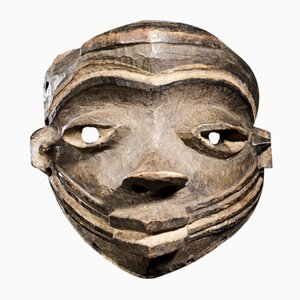 Pende People, DRC, Beautifully Sculptured Face Mask.