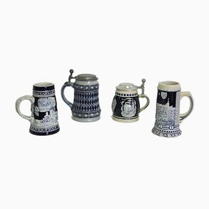 Porcelain Mugs, West Germany, 1980s, Set of 4