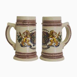 Porcelain Mugs, Germany, 1980s, Set of 2