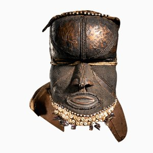 Kuba People, DRC, Bwoon Mask with Copper Alloy Finish