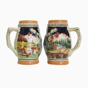 Porzellan Tassen, Tirol, 1980er, 2er Set