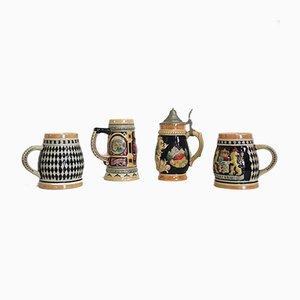 Porcelain Mugs, Bavaria, 1980s, Set of 4